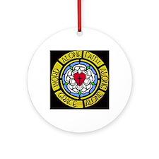 Grace Faith Word Car Magnet Round Ornament