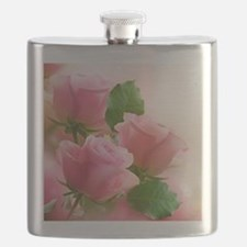 Pink Roses Flask