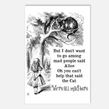 Alice in Wonderland Cat Postcards (Package of 8)