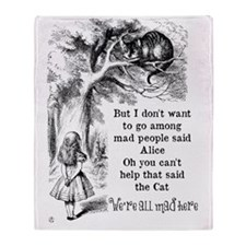 Alice in Wonderland Cat Throw Blanket