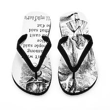 Alice in Wonderland Cat Flip Flops