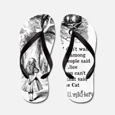 Alice in Wonderland Cat Flip Flops