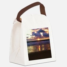 Marina del Rey Sunset Canvas Lunch Bag