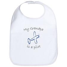 My Grandpa is a Pilot Airplane T-shirts Bib