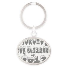 I Survived The Blizzard of 2013 Oval Keychain