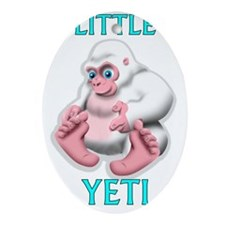 LITTLE YETI Oval Ornament
