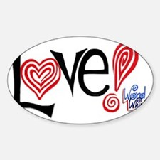 Love - WordWhirlz Sticker (Oval)
