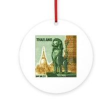 1963 Thailand Imperial Guardian Lio Round Ornament