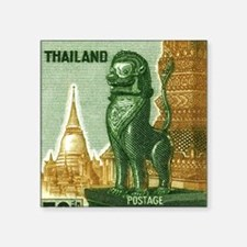 "1963 Thailand Imperial Guar Square Sticker 3"" x 3"""