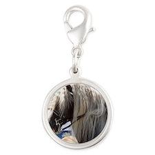 BLACK FOREST HORSE (Schwarz Wa Silver Round Charm