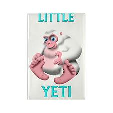 Little Yeti Rectangle Magnet