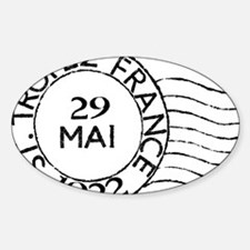 St Tropez France Postmark Decal