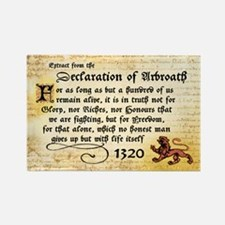 Declaration of Arbroath Rectangle Magnet