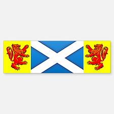Scottish Saltire / Rampant Lion Bumper Bumper Bumper Sticker