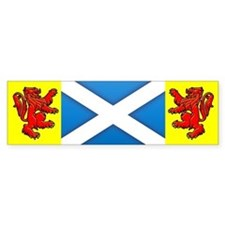 Scottish Saltire / Rampant Lion Bumper Bumper Sticker