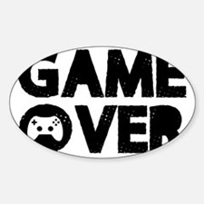 Game Over Sticker (Oval)