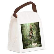 tef_round_cocktail_plate_745_H_F Canvas Lunch Bag