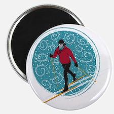 Nordic Ski Girl Magnet