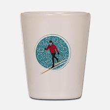 Nordic Ski Girl Shot Glass