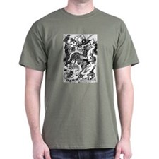 Black Multidragon T-Shirt