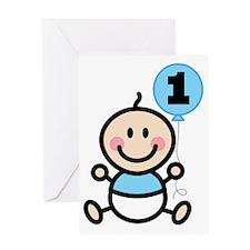 Babys 1st Birthday Boy Greeting Card