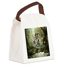 tef_twin_duvet_2 Canvas Lunch Bag