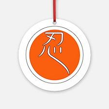 Kanji Shinobi(Ninja) Ornament (Round)