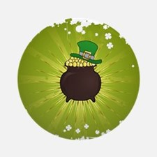 Grunge St. Patrick's Day Background Round Ornament