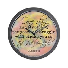 Struggle Quote Wall Clock