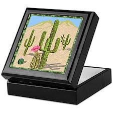 desert cactus shower curtain Keepsake Box