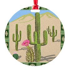desert cactus shower curtain Ornament