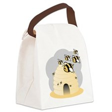 Honey Bees Canvas Lunch Bag