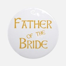 Sherbet Father of the Bride Ornament (Round)