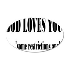 restrictionsrectangle 35x21 Oval Wall Decal