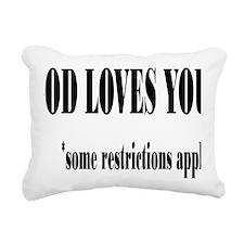 restrictionsrectangle Rectangular Canvas Pillow