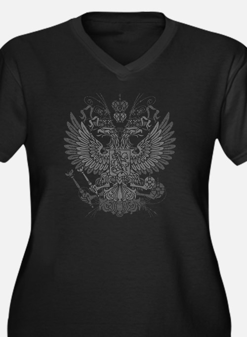 Byzantine Ea Women's Plus Size Dark V-Neck T-Shirt