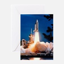 Launch of Columbia, the first space  Greeting Card
