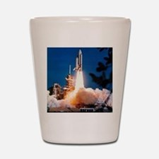 Launch of Columbia, the first space shu Shot Glass