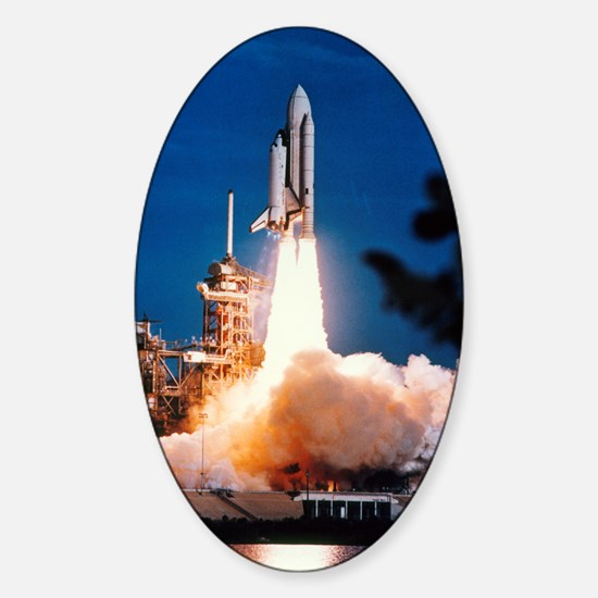 Launch of Columbia, the first space Sticker (Oval)
