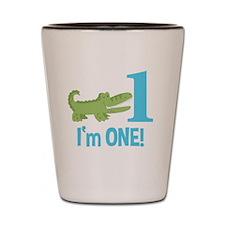 Im One Alligator Birthday Design Shot Glass