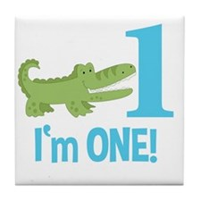Im One Alligator Birthday Design Tile Coaster