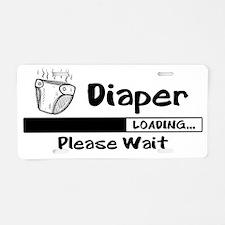 Diaper Loading Aluminum License Plate