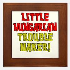 Little Hungarian Trouble Maker Framed Tile