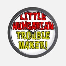 Little Hungarian Trouble Maker Wall Clock