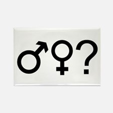 Not finding out the gender Rectangle Magnet