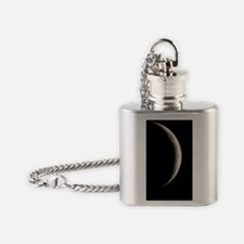 Optical image of a waxing crescent  Flask Necklace