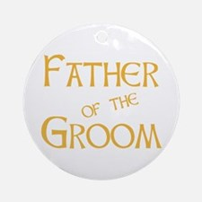 Sherbet Father of the Groom Ornament (Round)