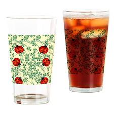 ladybug flip flops Drinking Glass
