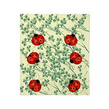 ladybug flip flops Throw Blanket