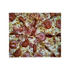 pepperoni pizza shirt for men Throw Blanket